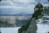 Bolivia, Chacaltaya Ski Lodge on cliff of Chacaltaya Mountain