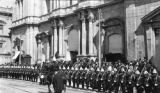 La Paz (Bolivia), officers lining street at parade