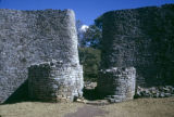 Zimbabwe, stone wall entrance of temple at Great Zimbabwe