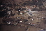Africa, aerial view buildings