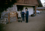 Kenya, Harrison Forman and others at Keekorok Lodge at Masai Mara National Reserve