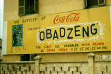 Ghana, advertising for Obadzeng play at Opera Cinema