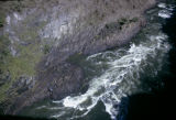 Zambia and Zimbabwe, aerial view of Zambezi River canyon