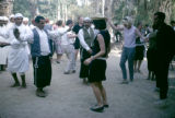 Tunisia, locals dancing with tourists in Nefta