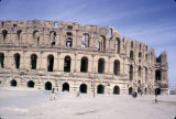 Tunisia, ruins of El Jem amphitheater from ancient city of Thysdrus