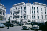 Tunisia, automobile traffic outside British Embassy in Tunis