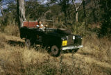 Zimbabwe, man driving safari vehicle