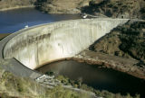 Zambia and Zimbabwe, Kariba Dam spanning border and Zambezi River
