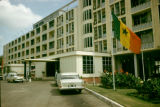 Ghana, entrance to Ambassador Hotel in Accra