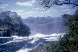 Zambia and Zimbabwe, Zambezi River flowing into Victoria Falls