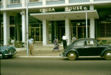 Ghana, people in front of Cocoa House in Accra