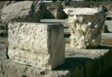 Tunisia, architectural detail at ruins of ancient city of Carthage