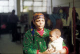 Cairo (Egypt), woman with an infant
