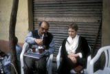 Cairo (Egypt), drinking tea and smoking hookah in outdoor cafe