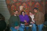 Cairo (Egypt), Caroline Seymour-Jorn with  Ibtihal Salem and Intisad badr abd al-Hamid in Khan...