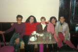 Cairo (Egypt), Caroline Seymour-Jorn with writers Ibtihal Salem, Sahar Tawfiq and Tawfiq's sons