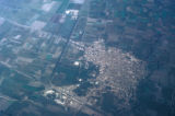 Egypt, aerial view of the area between Cairo and Beirut