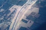 Egypt, aerial view of a road from Cairo to Beirut