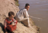 Egypt, children fishing