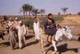 Egypt, Bedouin family on the road