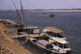 Egypt, boats at the shore