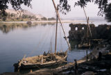 Egypt, boats docked on the shore of the Nile River