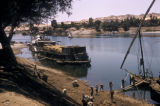 Egypt, boats on the shoreline of the Nile River