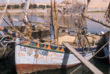 Egypt, decorative painting on a sailboat