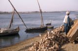 Egypt, construction material on the shore