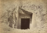 Egypt, entrance to the tomb of the Valley of the Kings