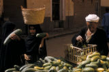 Egypt, people at the outdoor market