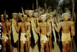 Egypt, figurines of marching Egyptian soldiers at Egyptian Museum in Cairo