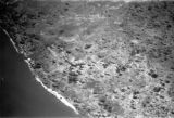 Malawi, aerial view of western shore of Lake Nyasa