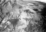 Tanzania, aerial view of  small volcanic cones on Mawenzi summit of Kilimanjaro