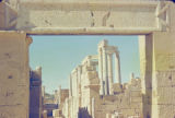 Libya, Latin inscription on archway at ancient city of Leptis Magna