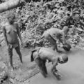 Democratic Republic of the Congo, Mbuti women cleaning items in river