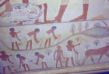 Egypt, detail of a wallpainting in the tomb of Nakht in ancient Thebes