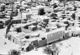 Nigeria, aerial view of mud-walled homes in Kano's Old City