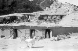 Morocco, dwellings built into base of hill