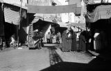 Morocco, people gathered at souk in Rabat