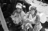 Morocco, Berber women at camp in Atlas Mountains