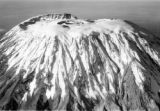 Kilimanjaro (Tanzania), aerial view of  the Kibo summit of Mount Kilimanjaro
