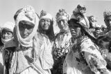 Morocco, portrait of Berber women in Atlas Mountains