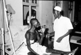 Nigeria, man receiving treatment at Kano hospital