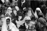 Morocco, women watching royal review of troops procession in Fez