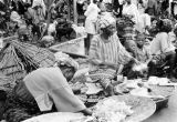 Nigeria, women selling goods at Ibadan market