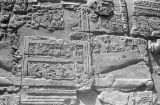 Egypt, bas-relief on obelisk at Temple of Luxor in ancient Thebes