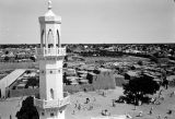 Nigeria, view of Central Mosque minaret and Kano Old City