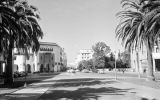 Morocco, view down boulevard to Rabat Post Office
