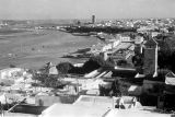 Morocco, panoramic view of harbor at Bou Regreg river in Rabat